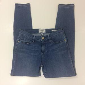 FRAME Denim Le Skinny De Jeanne Crop Jeans Osage